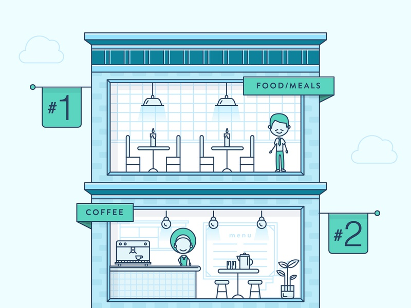 Square Infographic Illustration infographic blue apartment home characters people vector flat character design illustration design