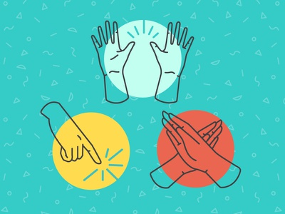 Dos and Don'ts hand gestures donts dos no cheers icon hands