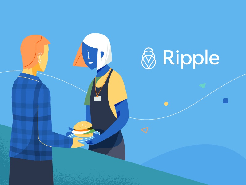 Ripple App case study ripple aqua volunteering identity branding splash app illustration