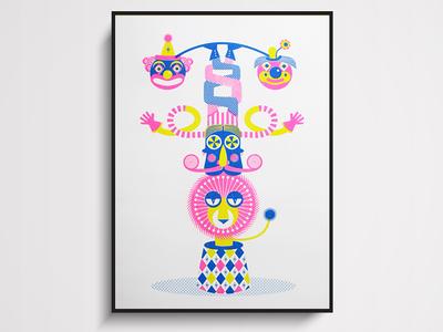 Character totem illustration