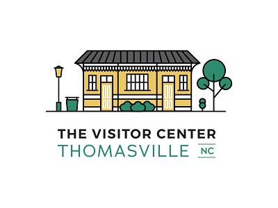 Thomasville Vistor Center Logo logo downtown north carolina minimal flat vector line art icon design illustration
