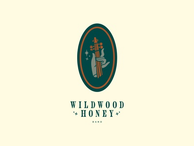 Wildwood Honey Band Identity lettering typography badge rustic band idenity branding logo design illustration
