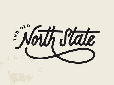The Old North State Shirt handlettered vintage shirt handlettering north carolina lettering design illustration