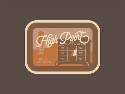 High Point, NC Patch vintage badge design patch badge north carolina lettering vector design illustration