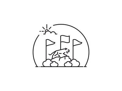 High Point University Line Art Illustrations - Panther vector minimal line art illustration icon flat design