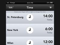 Time App Concept