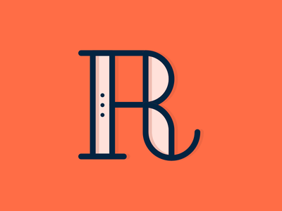 The Letter R r logo typography type monogram lettering letter e illustration