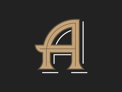 The Letter A by Matt Hardy Dribbble