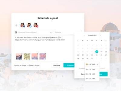 Canva Schedule - Post Editor