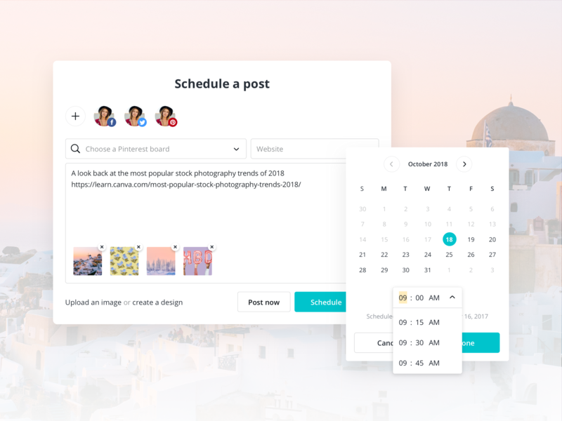 Canva Schedule - Post Editor by Matt Hardy for Canva on Dribbble