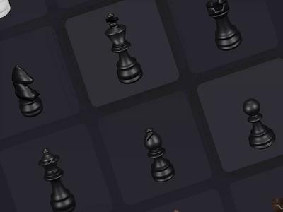 Chess Pieces 3D Illustration 3d artist clean illustration clean design 3d art designs design ui 3d animation 3d clean ui clean illustration art animated gif chessboard chess piece illustrations illustration animated animation chess