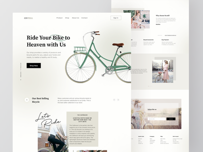 Ontell Landing Page Exploration bicycle clean design design clean bicycle web web app web design bicycle landing page landing ui web ui design ui clean ui website design web bicycle website landing page classic website classic website