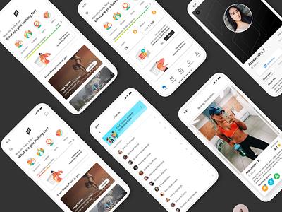Wanna Train - Fitness App Design Case study clean graphic design art logo savvycom branding website web app ux ui design