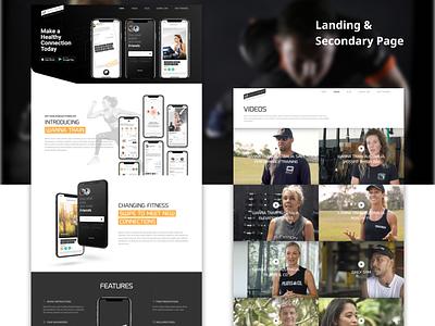 Wanna Train - Fitness Website Design Case study logo art website web ui ux savvycom design branding app