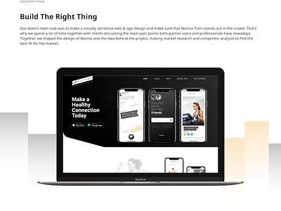 Wanna Train - Fitness Platform Design website web ux ui savvycom logo design branding art app