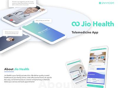 Jiohealth - Telemedicine Mobile Application website web ux ui app savvycom