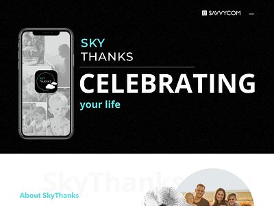 SkyThanks - Digital Time Capsules App typography illustration web website design ux ui savvycom app legacy digitaltimecapsules