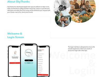 SkyThanks - Digital Time Capsules App web typography illustration website design ux ui savvycom app legacy digitaltimecapsules