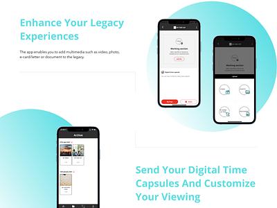 SkyThanks - Digital Time Capsules App vector illustration design typography website web ux ui savvycom app legacy digitaltimecapsules