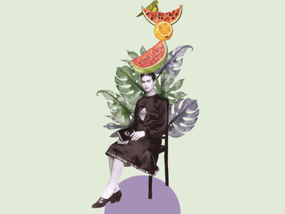 Frida Kahlo inspiration tropical fridakahlo frida procreate design audiovisual art minimalist inspiration artist collage artcollage