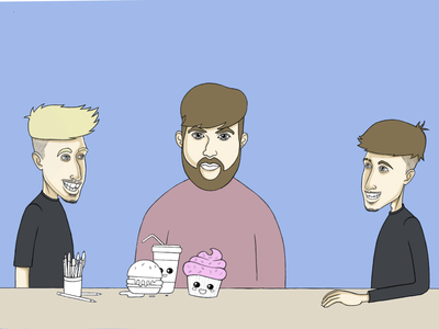 Podcast splash screen illustration design podcast character procreate vector branding illustration