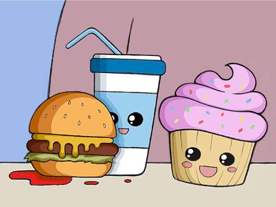 """Burger don't smile"" W.I.P. ux ui logo vector procreate podcast illustration design character branding"