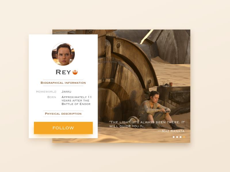 User Profile sns profile rey starwar