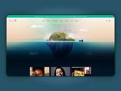 ReYouth boats landing page boat sea island beauty flat typography homepage ui branding ux website