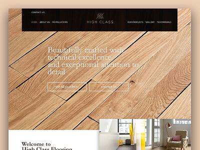 High Class Flooring modern miminal wood flooring floors redesign page web website homepage