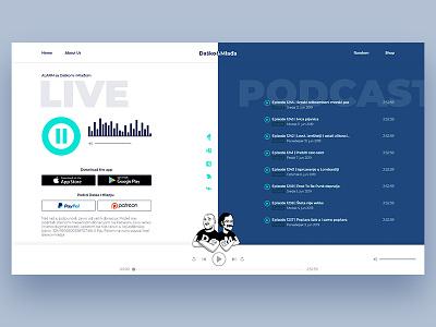 Dasko i Mladja live radio station radio blue webdesign website podcast