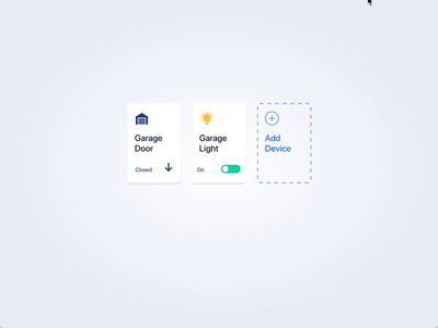 Light Toggle Switch vector flat ui ux animation microinteraction device card card switch toggle ui ux xd adobe xd adobexd smart home light