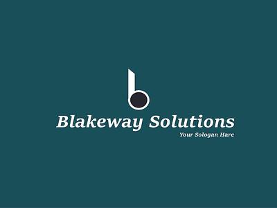 Blacks way solutions vector design illustration branding logo graphic design logo al mamun graphicdesign blakeway solutions