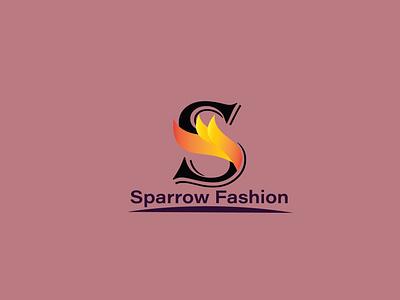 Sparrow Fashion graphic design logo illustration design fashion logo fashion design eye catching logo unique logo pismire art al mamun logo logo design sparrow fashion