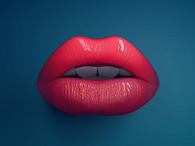 LIP 00002 redshift c4d photoshop illustration art design lips