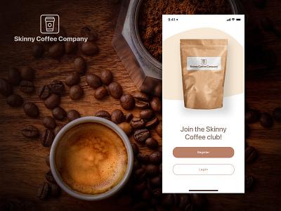 Skinny Coffee logo app branding design