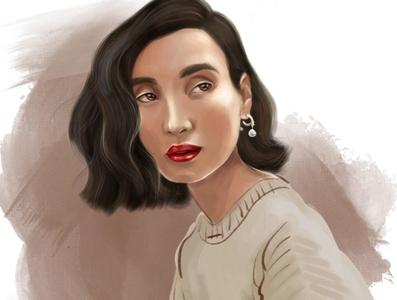 portrait of a stylish woman fashion portrait fashion illustration fashion art fashion design fashion girl illustration painting digital portrait face picture image