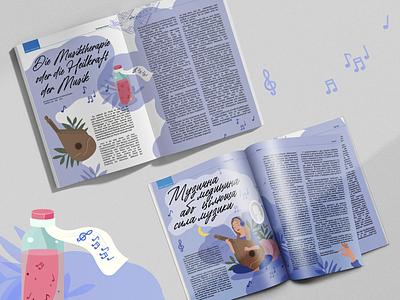 Die Musiktherapie oder die Heilkraft der Musik illustrator picture design articles magazin design vector digital illustration painting branding design image