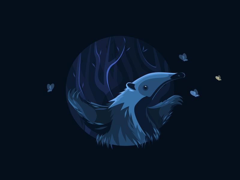 anteater flat illustration vector art baterfla illustration art vectorart иллюстрация цифровой картина значок образ anteater