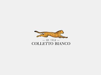 logo Colletto Bianco jaguar branding painting picture illustration design vector ui logo image icon
