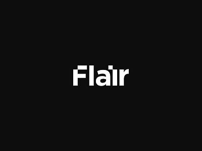 Flair wordmak mark logo hut curve brave bold b agency