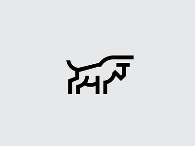 Bull logo animal mark outline icon minimal law solid bull update logo