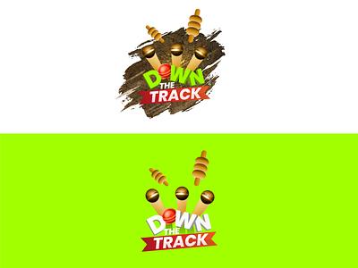 Down The Track Podcast Logo logo mark branding cricket logo graphicdesign logodesign pakistan designer podcast art logo designing youtube channel logo cricket podcast down the track podcast logo