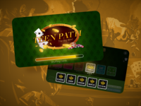 Game Splash and Menu cards game teen patti ui ux designer ui ux design ui ux game experience gam ui