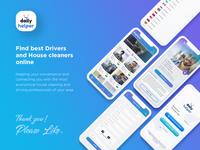 Daily Helper Mobile App UI