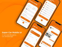 Super Car Mobile App UI Design