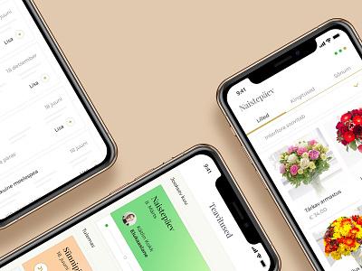Reminder Service reminder iphone mockup dashboard ux ui flowers app