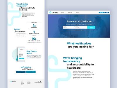 Clearity Website landing design landingpage healthcare landing