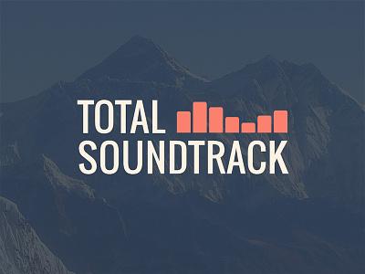 Total Soundtrack music mountains blue orange branding logo
