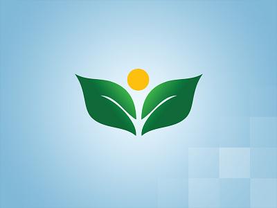 Supplements Logo health tree leaf green blue branding logo