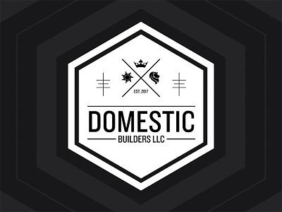 Domestic Builders black bw architecture builder brand branding logo